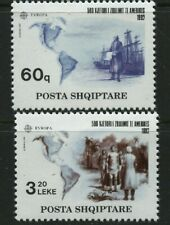 America Discovery Columbus 500 years Europa 2 mnh stamps 1992 Albania #2421-2
