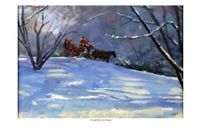 """""""Winter Carriage Ride"""" Signed Fine Art Print by Jack Faragasso"""