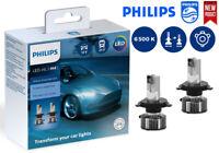 PHILIPS H4 LED Ultinon Essential Car Headlight Bulbs 6500K White 11342UE2X2