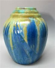 Fine PIERREFONDS CRYSTALLINE French Art Deco Pottery Vase  c. 1920s  antique