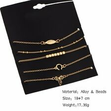 New 5pcs Antique Gold Plated Jewelry Set