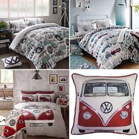 VW Campervan Duvet Cover Set - On Tour / Surfs Up / Classic -  Licensed Bedding