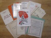 Interesting Selection of Theatre Programmes from the 1930's back to 1908