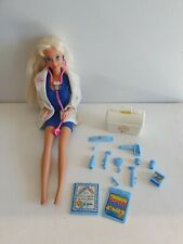 1976 Dr BARBIE with Heartbeat Stethoscope & Accessories MATTEL Vintage