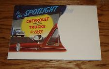 1953 Chevrolet Truck Full Line Foldout Sales Brochure 53 Chevy Pickup