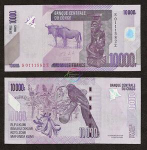 CONGO D.R. 10000 Francs REPLACEMENT *Z* Suffix 2013 P-103 UNC Uncirculated