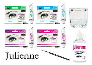 Julienne Professional Eyelash & Eyebrow Tinting Dye Tint or Lash Kit All Colours