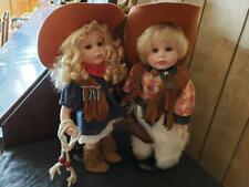 Cowboy Cowgirl Set - Tradition Doll Collection.  14""
