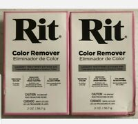 Lot of (2)  Of Rit Laundry Treatment Color Remover Powder 2 oz
