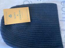 Scott & Charters 100% Pure Cashmere Beanie hat, Black, One size