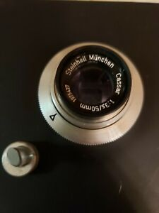 STEINHEIL MUNCHEN CASSAR 1:3.5/50MM LENS with Cokin Filters, enlarger lensboard