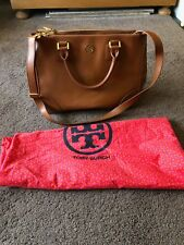 TOP: TORY BURCH Robinson Tote Bag Handtasche camel mit doppeltem Reißverschluss