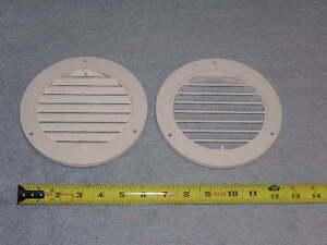 2ea RV Trailer Bus Van Rotating Heat Air Ceiling Wall Grille AC Vent Trim Ring