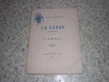 1901.la gerbe.poésies / Bernard Sarrieu.envoi autographe.Pyrénées Luchon