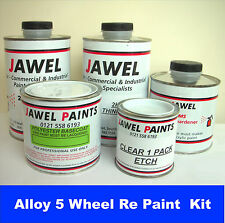 ALLOY WHEELS REFURB. 3.25lt kit ANTHRACITE (with matt 2k lac & grey etch primer)