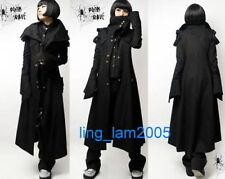 black PUNK Kera Cosplay Gothic COLLAR long JACKET Size S