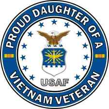 "Daughter of a Us Air Force Vietnam Veteran 5.5"" Sticker 'Officially Licensed'"