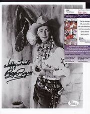Roy Rogers Western Star Actor Signed 8x10 Photo JSA Certified