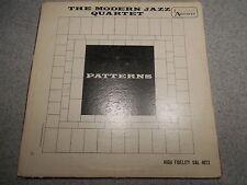 THE MODERN JAZZ QUARTET   PATTERNS    LP     449