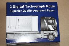 6 Rollos Rollos De Tacógrafo Digital Calidad Superior Papel apprved (2 cajas de 3)