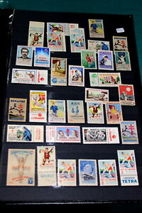 #7475,Page of Seldom Seen Cinderella,France 1930's-50's Anti Tuberculosis Stamps