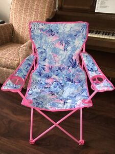 Lilly Pulitzer SHADE SEEKERS FOLDING CHAIR Beach Camping & Carry Case GWP New