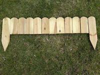 Beeteinfassung Rasenkante Holz 110 cm  Beetbegrenzung Beetzaun Beetumrandung !