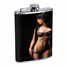 Russian Pin Up Girls D8 Flask 8oz Stainless Steel Hip Drinking Whiskey Brandi