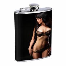 Russian Pin Up Girls D8 Flask 8oz Stainless Steel Hip Drinking Whiskey Brandi