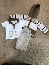 Mama's and Papa's Boys 0-3 Months Outfit Cardigan Shirt Trousers EXCELLENT COND