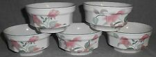 Set (5) Mikasa SILK FLOWERS PATTERN Fruit or Dessert Bowls