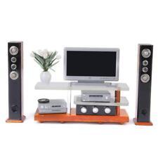 Modern 1/12 Dollhouse Miniature Living Rooms Furniture Set TV DVD Sound Kit
