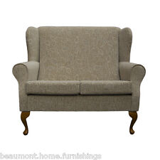 2 Seater High Back Montana Sofa Fabric Wing Fireside Living Room Couch UK