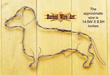 Dachshund- handmade decor dog farm country puppy rustic brown metal wire
