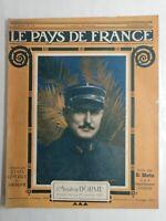 N92 Le Pays De France 3e Année N°115 / 28 décembre 1916 L'aviateur Dorme,abattus