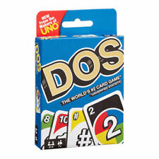 "DOS Card Game NEW ""IN STOCK"" by the Makers of Uno (Mattel) Family Friends Party"