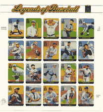 LEGENDS OF BASEBALL STAMP SHEET -- USA #3408 33 CENT