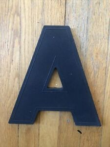 "Vintage Letter A Black 17"" Slotted Movie Theater Marquee Sign Letters WAGNER"