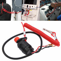 Outboard Cut off Boat Motor Kill Stop Switch & Safety Tether Lanyard For Yamaha