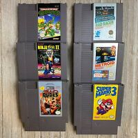 Nintendo NES Game Lot Of 6 Cleaned Super Mario Bros. 3, Metroid & More! [TESTED]