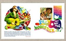 2019 WOODSTOCK  STAMP ~ PANDA #2 JIMI HENDRIX COMBO FIRST DAY COVER ~ DCP CANCEL