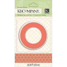 K&Company: Deep Coral and Gold Foil Moroccan Window Washi Tape - 15mm x 10m