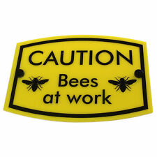 Beekeeping Warning Sign Caution Bees at Work, Hive Protection Equipment, Gift fo
