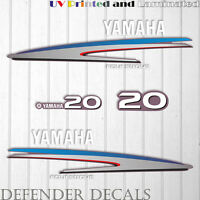 Yamaha 20 HP Four Stroke outboard engine decal sticker kit reproduction Printed