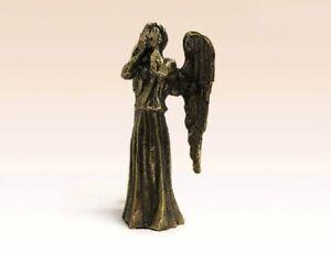 "Weeping Angel Figurine Statuette Bronze 4.33"""