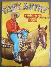 Original Vintage Gene Autry Coloring Book 1950 Copyright Whitman Publishing