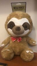 Kellpet Pet Toy Collection Squeaky Sloth With Red Bow Tie Collectible Gift New