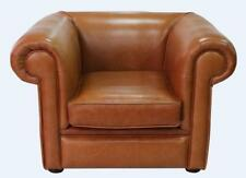 Chesterfield 1930's Low Back Club Armchair Old English Tan Leather