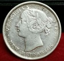 1862 New Brunswick 20 Cents Silver Coin