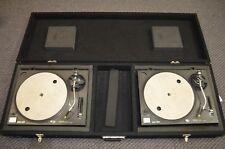 Set of 2 Technics SL-1210MK2 Direct Drive Turntables Concorde Ortofon w/ Case